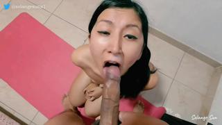Sexy Latina Enjoys Getting Her Ass Fucked And Cum On Her Face